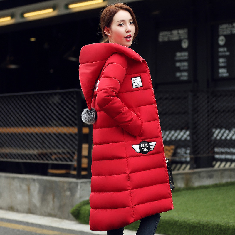 2016 New Plus Size Winter Wadded Jacket Women Thick Warm Hooded Long Down Cotton-padded Jacket Parka Slim Winter Coat