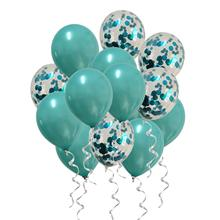 METABLE 30PCS Metallic Blue Balloons Confetti Turquoise Teal for Baby Shower Birthday Wedding Engagement Party Decor