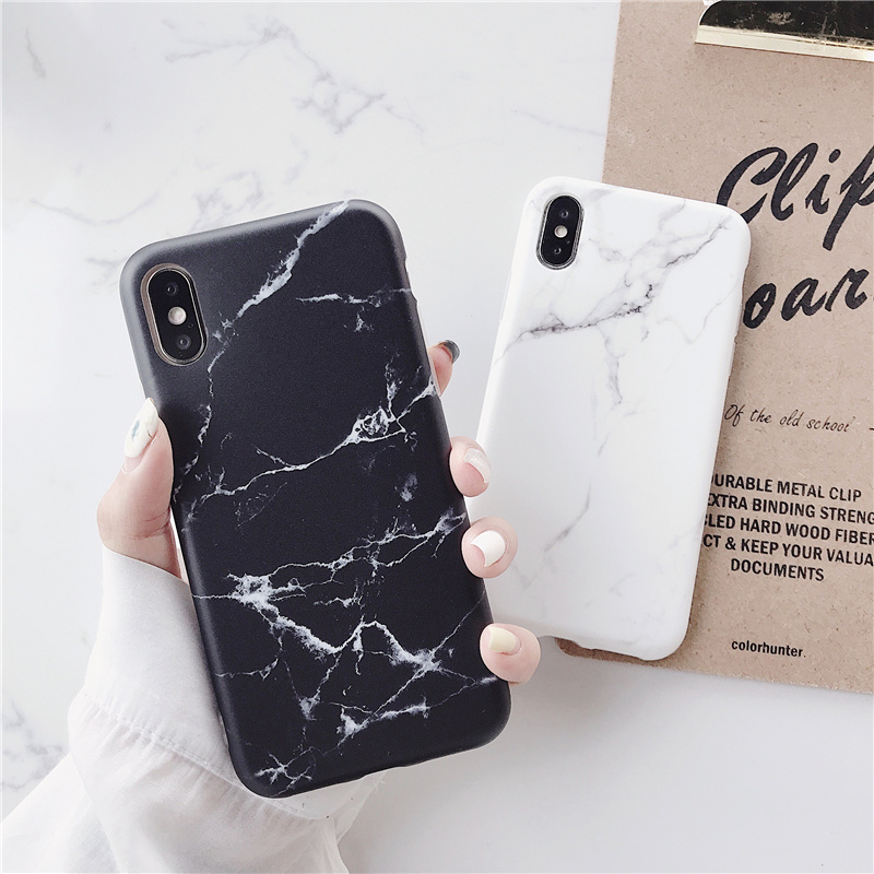 Luxury Fruit Marble Phone Case For iPhone 7 Case For iPhone 6 S 6S 7 8 Plus X Case Cover XS MAX XR 8Plus 7Plus Coque Fundas in Fitted Cases from Cellphones Telecommunications