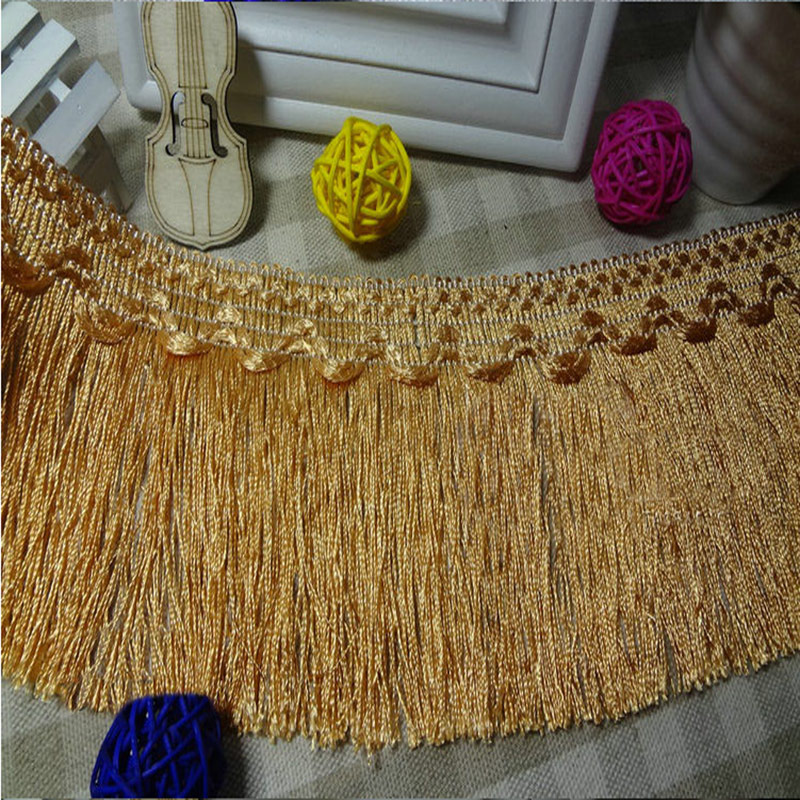 12метр / көпір 10CM ені Polyester Tassel Fringe Lace Trims DIY Тігін тоқу үшін / Curtain Accessories