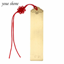 1Piece Bookmark Brass Natural Color Brushed Metal Hollow Corrosion Book Clip Luxury Gift Good Texture Chinese Specialty