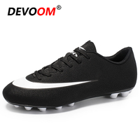 2019 Spring Outdoor Men Boys Soccer Shoes Football Boots Kids Cleats Training Sport Turf Shoes Sneakers Men zapatos de futbol 44|Soccer Shoes|Sports & Entertainment -