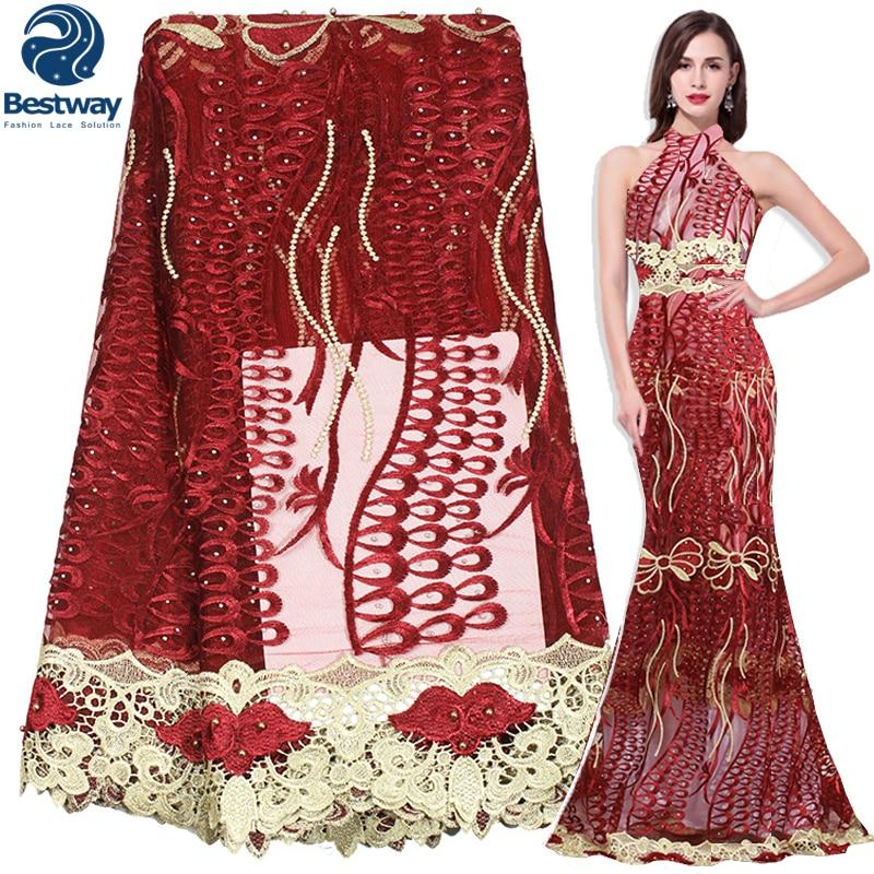 Bestway Αφρικανική Υφασμάτινη Lace Beaded Lace - Τέχνες, βιοτεχνίες και ράψιμο - Φωτογραφία 1