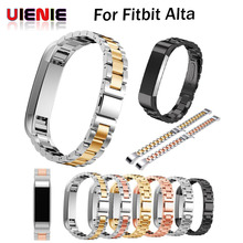 UIENIE strap For Fitbit Alta HR Replacement Band for fitbit Alta wristband Stainless Steel Bracelet metal smart Watch Band lnop sport watch strap for fitbit alta alta hr band replacment bracelet silicone breathable wristband smart tracker accessories