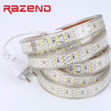 Buy rope light led and get free shipping on aliexpress 276ledsm smd 2835 led strip 220v 240v waterproof three row led tape rope light aloadofball Choice Image