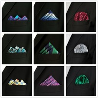 Wholesale pcs lot Pocket Square Hanky Hankies Handkerchief Large Size Men's Ties Necktie Assorted Mixed Free Shipping