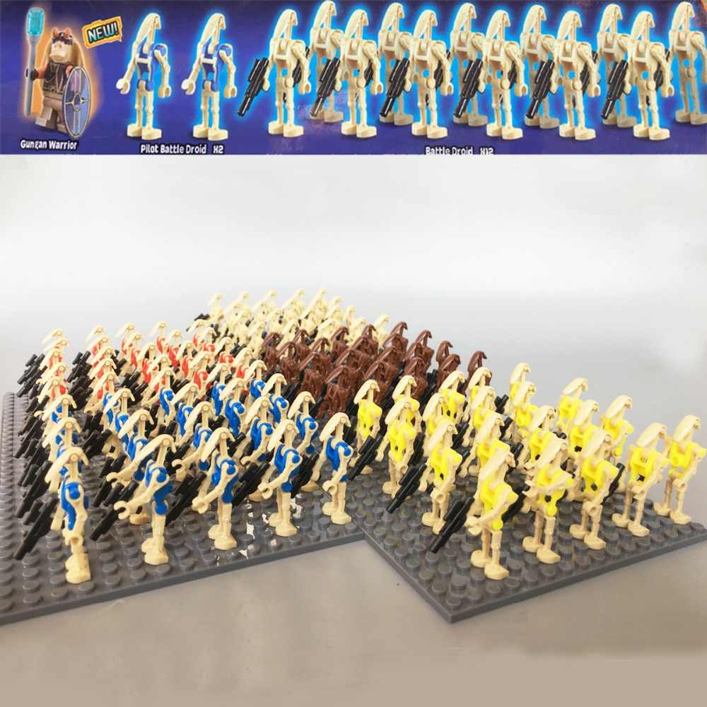NEW 20pcs/lot Star-Wars Battle Droid Combat Robot K-2SO ifig Bricks COMPATIBLE 75058 Building Block kid Gift Christmas Toys