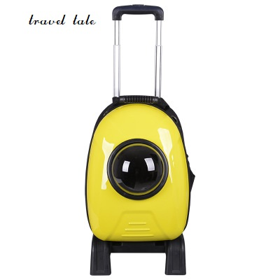 travel tale fashion cat and dog capsule pet bag Hand-held portable rod package/backpack Rolling Luggage fashion girls pet hand bag brooch set