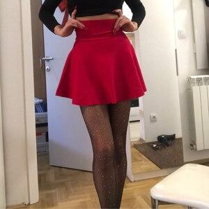 Image 2 - 2019 new Womens Korean Version Pleated Skirt  Umbrella Skirt High Waist Bottom Knitted Skirt Autumn A line Skirt