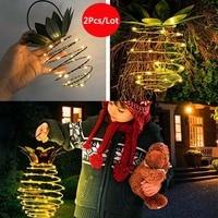 2Pcs/Lot Pineapple Led Garden Light Garden Solar Light Waterproof 24 LED Lanterna Solar Lamp Christmas Patio Home Decoration