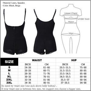 Image 5 - Women Body Shaper Seamless Tummy Control Full Shapewear Open Zipper Bust Slimmer Belly Bodysuit Slim Waist Trainer Corset Girdle