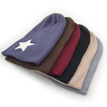 Women Men Pentacle five-pointed star Warm Skull Beanie Hip-Hop Knit Cap Crochet Cuff Hat