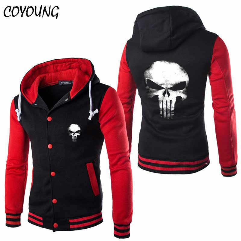Detalle Comentarios Preguntas sobre COYOUNG diseño de alta calidad elegante Punisher  cráneo Sudadera con capucha para hombre Cosplay sudaderas con capucha ... 2508939701e2