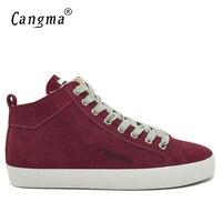CANGMA Элитный бренд Спортивная обувь Мужская обувь в стиле ретро из коровьей замши Классическая обувь Пояса из натуральной кожи осень мужски