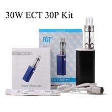 Electronic Cigarette Kit  E-Cigarette Vape Mod Electronic Hookah New ECT eT 30P 30W Box Mod Shisha Pen Evaporator Atomizer X1048