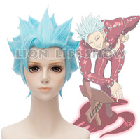 The Seven Deadly Sins Greed Ban Short Light Blue Cosplay Full Wig
