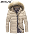 2017 Hot Sale Overcoat Men Winter Outwear Wadded Coat Windproof Padded Casual For Male Warm Clothing