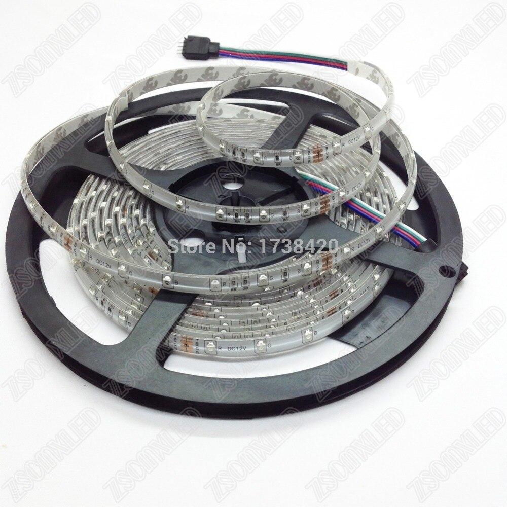 Free fedex 3528 rgb Led Strip light 100M/lot 5m/roll 300leds neon led ribbon DC 12V Waterproof IP65, rgb led tape