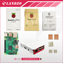B Raspberry Pi 3 Zestaw Startowy z Raspberry Pi 3 Model B + oryginalny pi 3 case + Radiatory pi3 b/pi 3b z dostępem do sieci wifi i bluetooth