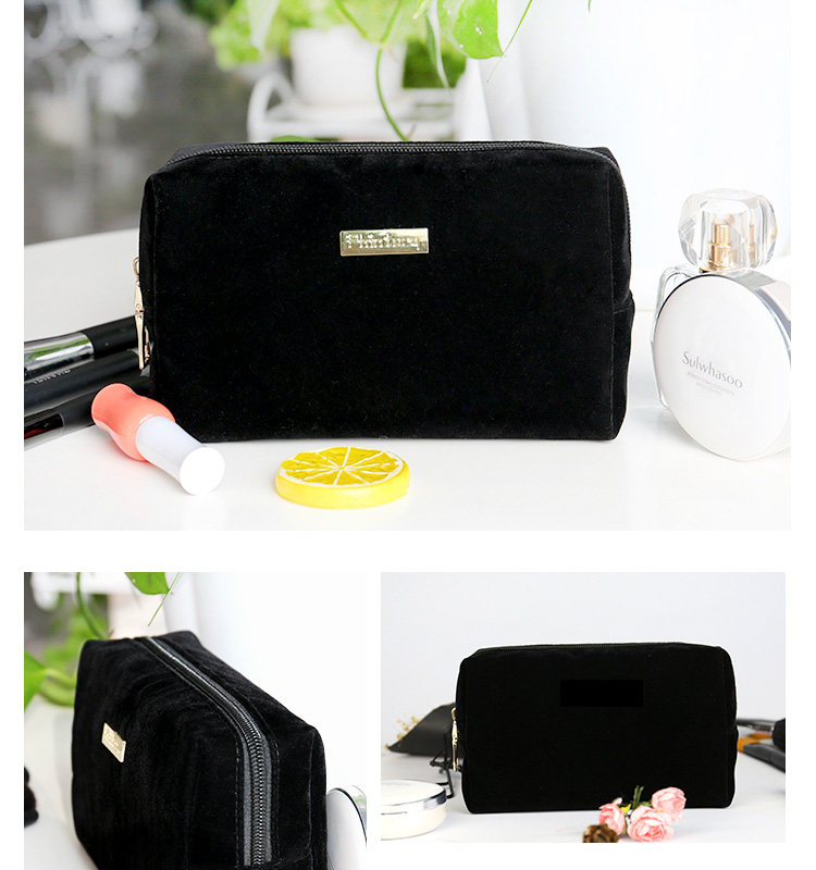 b06db6e8d60f Large Black Cosmetic Pouch Clutch Travel Case Organizer Storage Bag for Womens  Accessories Toiletry Beauty and skincare makeup