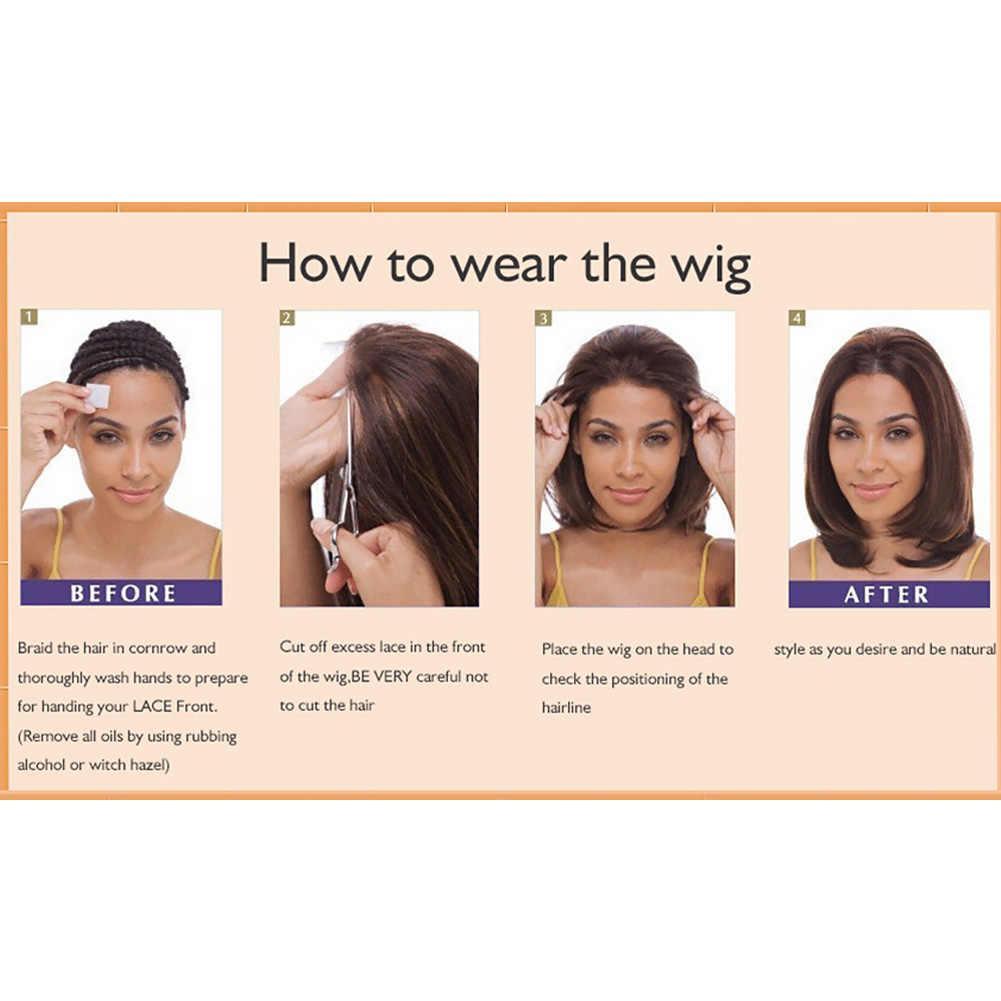 Женский парик салон твердый черный термостойкий короткие натуральные человеческие волосы аксессуары волнистые кружева передние украшения кудрявые искусственные