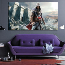 Assassins Creed Revelations Ezio HD Canvas Painting Posters Prints Marble Wall Art Painting Decorative Picture Modern Home Decor(China)