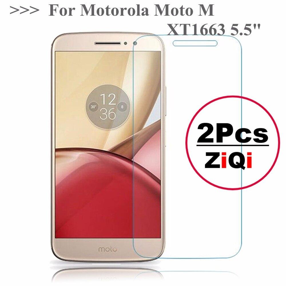 """2 יחידות 2.5D 0.26 מ""""מ 9 H פרימיום מזג זכוכית עבור מוטורולה Moto M XT1663 5.5 """"מסך מגן משוריינת מגן סרט עבור MOTO M"""