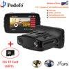 Podofo Car DVR Radar Detector GPS 3 In 1 Car Detector Camera FHD 1080P Speedcam Russian