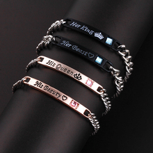 GDFSY Max Length22/18.5cm Couple Fashion Alloy Hand Strap Bracelet Birthday Gifts Memorial Day For Yours Dear Female friend S034