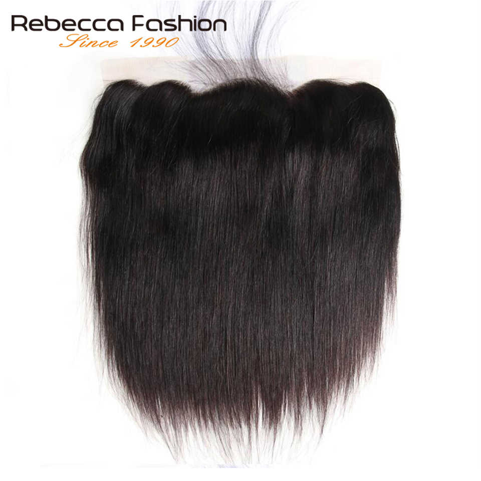 Rebecca Malaysian Straight Hair 8 To 28 Inch Bundles With Frontal Non Remy Human Hair 13x4 Lace Frontal Closure With Bundles