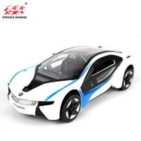 Hot High Simulation 1 32 I8 Alloy Pull Back Model Cars Two Door Sports Car Model