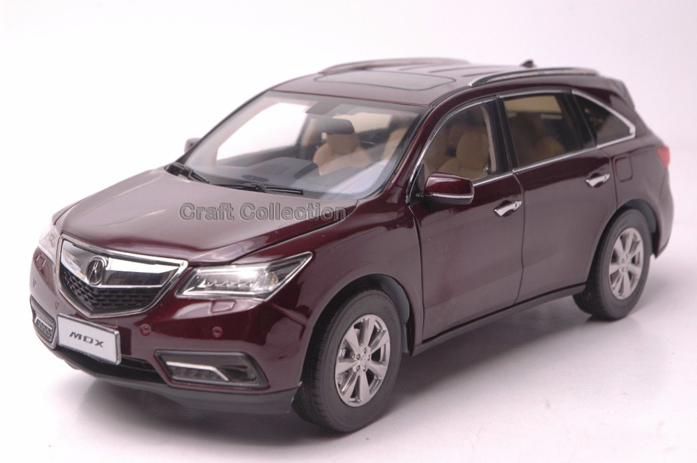 * Red 1/18 Honda Acura MDX 2016 SUV Diecast Model Show Car Miniature Toys Alloy Gifts Collection Minicar
