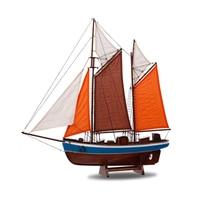 Средиземноморский парусного модель монтаж деревянной лодка украшения твердой древесины ремесло шлюпке 60 см руководство Европейского Craft И