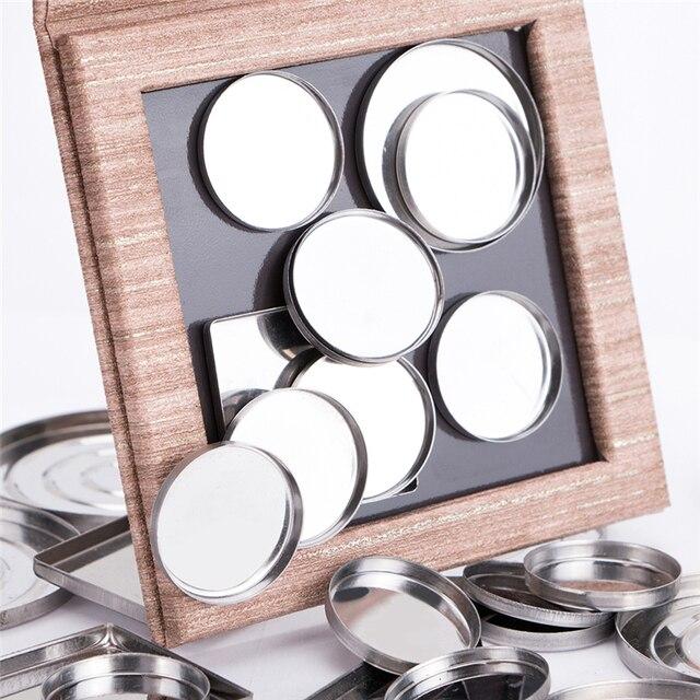 Fard à paupières boîte vide magnétique Palette de maquillage bois décoratif bricolage fard à paupières Pigment porte-plateau boîte de modèle sans fard à paupières