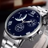 OUKESHI Brand New Fashion Watch Men Stainless Steel Band Business Style Casual Quartz Wristwatch Male Clock