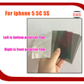 10psc/lot For iPhone SE The Light LCD Polarizer Film For iPhone 5 5C 5S Screen Bottom Polaroid Mirror Silver Base Film