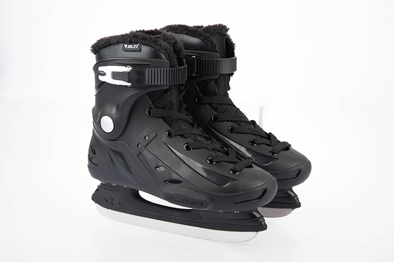 Adult Professional Thermal Warm Thicken Figure Ice Skates Shoes With Ice Blade Waterproof Training Practice Ice Skating Black figure skating clothing black ice skating dress custome hot sale girls skating suit absorb sweat washable spandex dance wear