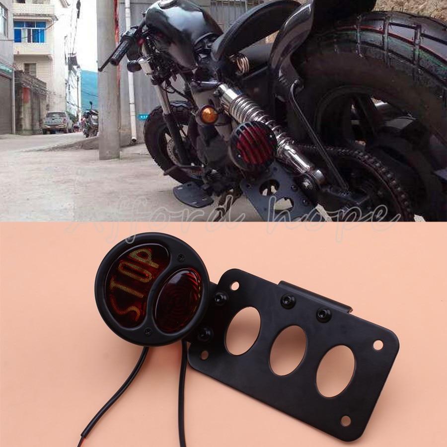 Motorrad Nummernschild Seite Halterung Rücklicht 12 V Bremsen ...