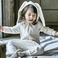 2016 Outono Inverno Bebê Crianças Rompers Romper Estilo Coelho Bonito Design Do Bebê Camisola Com Capuz Meninos e Meninas Do Bebê One-peças Se Adapte