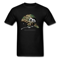 New Arrivals Round Neck Men T Shirts Custom Short Sleeve Military Hat Tshirt Hipster Plain Big