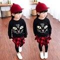3T-8T Hoodie For Children Character Cat Girls Hoodies Standard Casual Kids Hoodies Autumn Fashion Tops Girls Sweatshirt