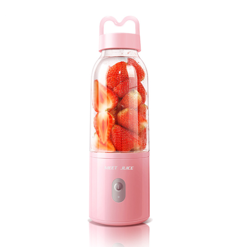 Small Blender, Portable Juicer Cup- USB Recharge Personal Small Juice Fruit Mixer Bottle- Electric Smoothie Mixing Machine coffee juice smoothie milk electric mixer cup