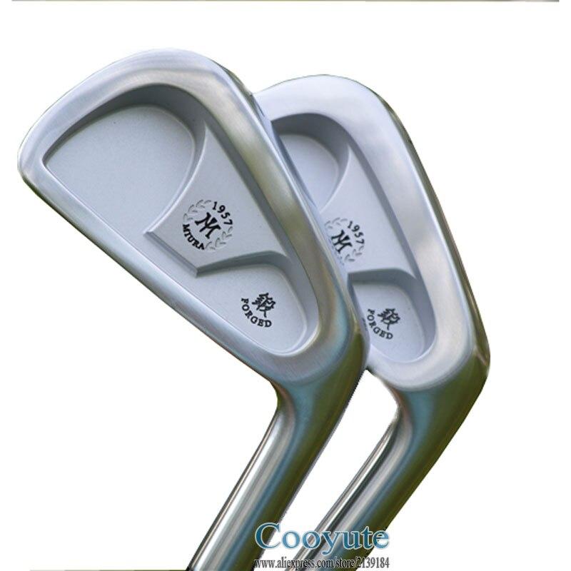 Новый cooyute Гольф утюги набор Миура cb57 1957 souve Клюшки для гольфа комплект 4-9 P клубы комплект Project X 55 сталь Гольф гибкого вала Бесплатная доставк...