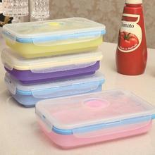 Lebensmittelbehälter Box Set Silikagel Kühlschrank Aufbewahrungsbox Mikrowelle Boxen Versiegelt Schärfer Organizer 400 ml L30