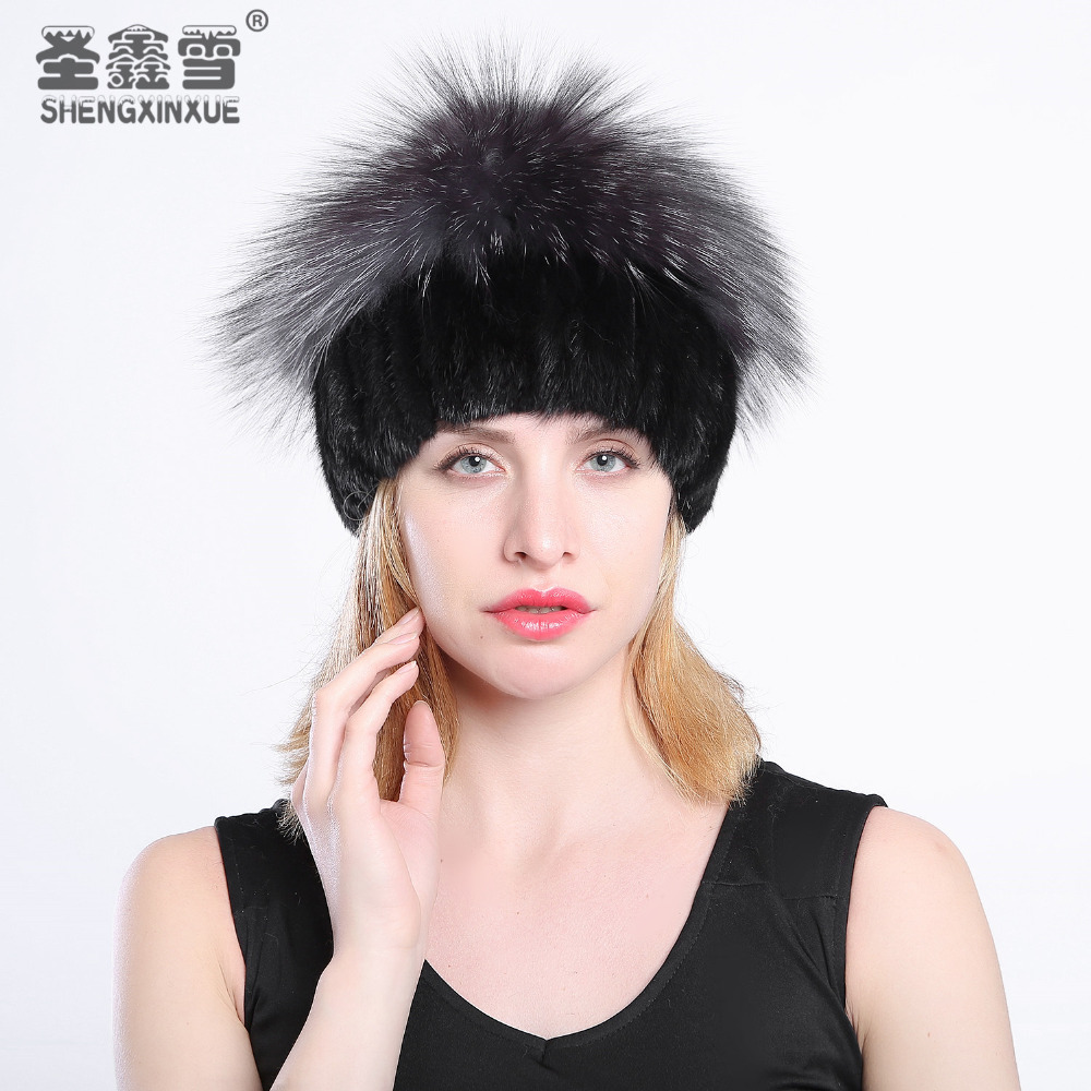 2017 The leader of sales of fashionable winter warm women's Knit hats mink hats vertical weaving with fox fur on Top marc benioff sales growth five proven strategies from the world s sales leaders