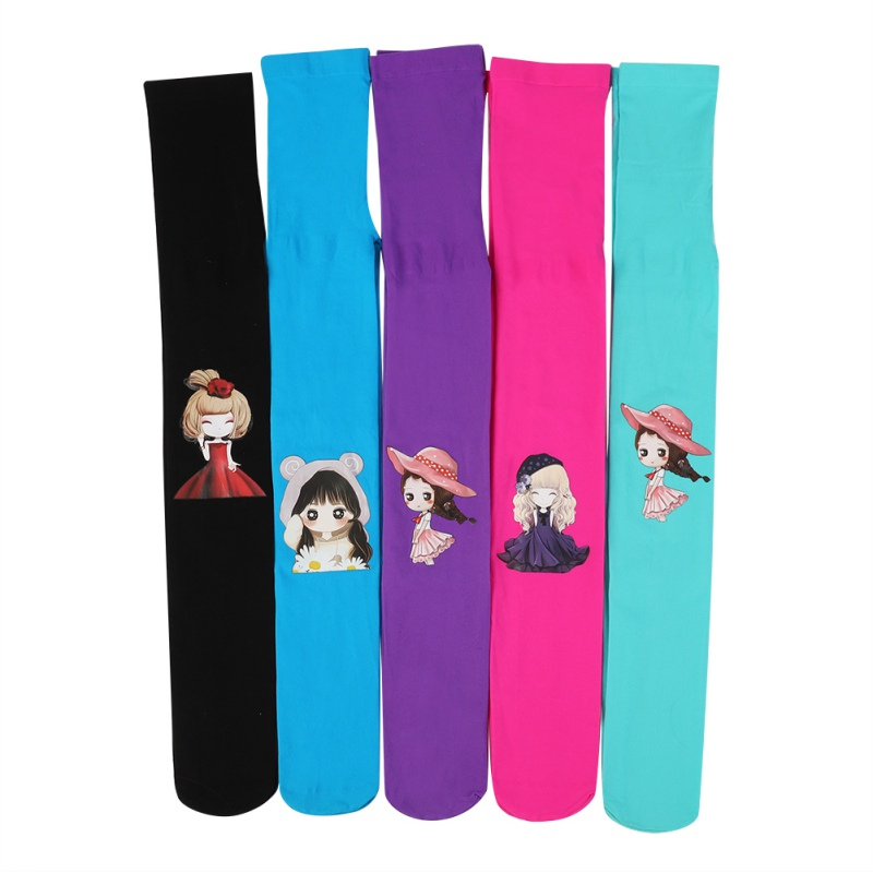 10 Colors Cartoon Pattern Good Quality Kids Tights For Girls Children Tights 3-8year Girls Tights