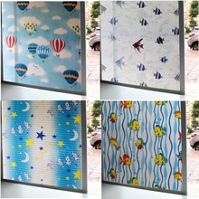 Stained fish window foil film Frosted glass sticker toning PVC Self-adhesive Decorative vinyl film for furniture window sticker цена 2017
