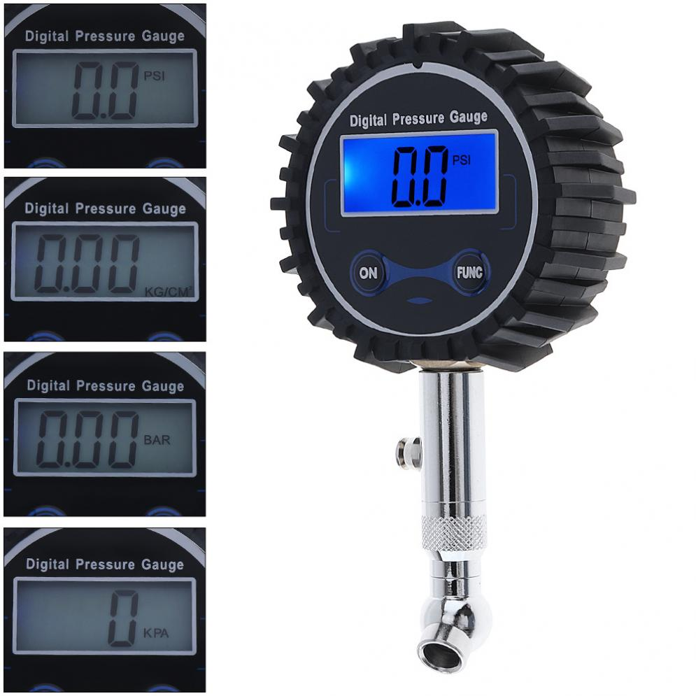 font b Portable b font Electronic Digital Pressure Gaue Tire Gauge with Short Pressure Measuring
