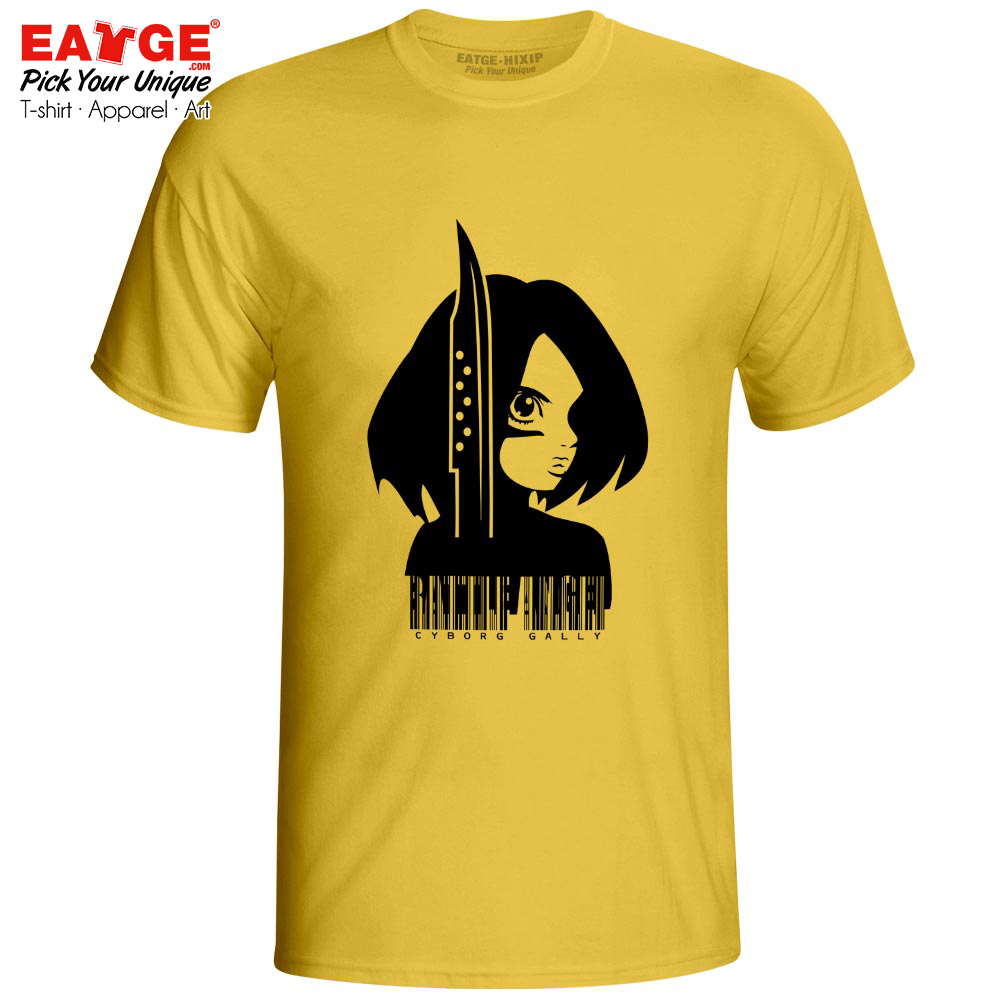 Pray With Gally T Shirt Anime Alita Battle Angel Gunnm Design Casual Brand T shirt Cotton Gray White Color Unisex Men Women Tee in T Shirts from Men 39 s Clothing