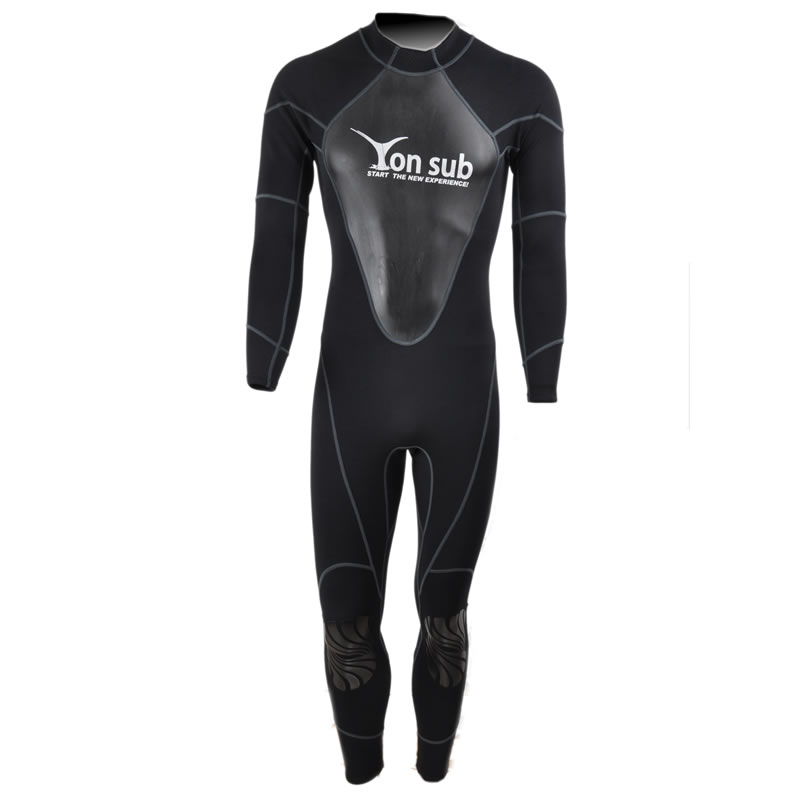 1.5mm Neoprene Scuba Swimwear Diving WetSuit Surf And Spearfishing Suit Professional Snorkeling Black Swimwear Suit YW8002